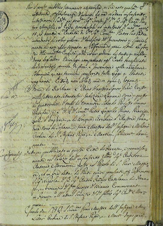 Casa Lucii atto del 1776