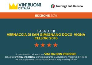Casa Lucii Vini Buoni d'Italia 2019