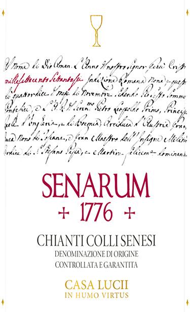 etichetta Senarum 1776