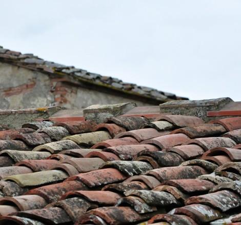 Podere Graticci, particolare del vecchio tetto